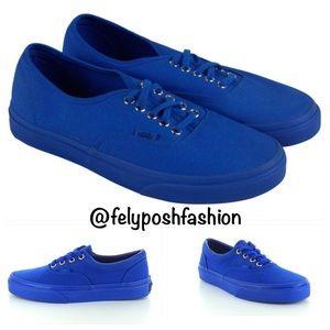 Vans Era Mens Blue Canvas Lace Up Sneaker Shoes